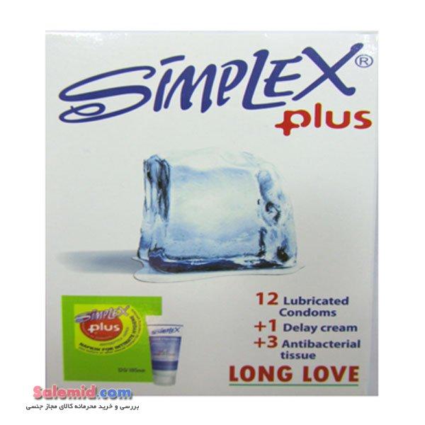 خرید آنلاین کاندوم سیمپلکس پلاس کرم ژل تاخیری 3 دستمال آنتری باکتریال ساده سبز نعنایی Simplex Plus Condom Delay gel 3 anti bacterial tissues