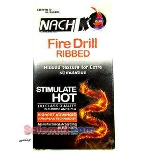 خرید اینترنتی ناچ کدکس مته آتشین فایر دریل روان کننده طرح شیاردار خطدار Ribbed Nach Kodex Fire Drill رنگی قرمز